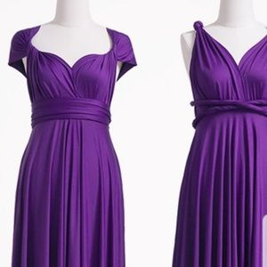 Convertible  Dress SZ M.  Deep Plum/Purple